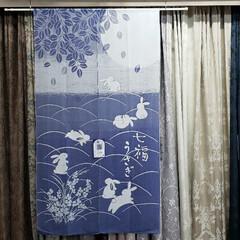 ブルー/青/色 /暖簾/のれん/インテリア/... こちらは先日入荷した「のれん」。  「青…