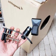 趣味/マイクスタンド/自作/ひらた家具店/DIY 【店長の趣味】 「カホン」という木の箱み…