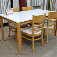 サイズ/大きさ/ダイニングテーブル/ダイニングセット/食卓セット/家具/... こちらはダイニング5点セット。  通常の…