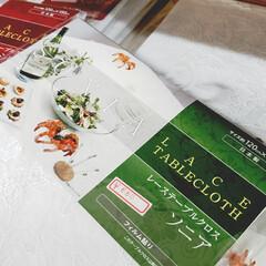 ビニールクロス/クロス/テーブル/テーブルクロス/インテリア/平田家具店/... これは折り畳まれて販売されているテーブル…