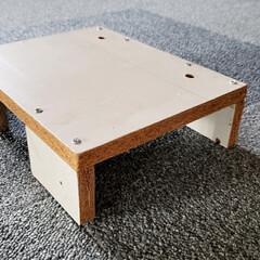 自作/収納/棚/台/DIY/ひらた店長/... ちょっと思い立って小さな台を自作。 廃材…