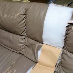 ひらた家具店/平田家具店/家具/ソファ/ソファー/背もたれ/... これは以前、破棄する古いソファーの背もた…