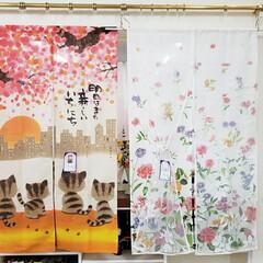 雰囲気/暖簾/のれん/インテリア/平田家具店/ひらた家具店 これは、ひらた家具店に展示されている「の…