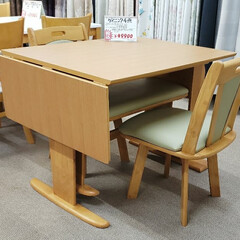 ダイニングセット/片バタ/伸長式テーブル/伸長式/テーブル/家具/... こういうテーブルを「片バタ」と呼ぶんです…