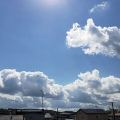 天気/雲/空/標茶/ひらた家具店 台風が近づいてますが今日は天気がいいです…
