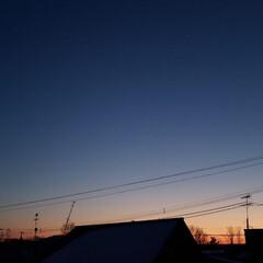 空/夕焼け/夕日/標茶/ひらた家具店 同じく本日の標茶(しべちゃ)の夕日、って…