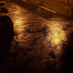標茶/道東/雨/強風/天気/ひらた家具店/... この写真、現在のひらた家具店の駐車場なん…