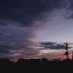 夕暮れ/夕焼け/雲/空/北海道/道東/... 本日の標茶(しべちゃ)の夕焼け。 ひらた…
