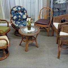 ひらた家具店/家具/ラタン/籐/イス/テーブル こういう雰囲気の家具、見たことありません…