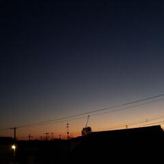 夕暮れ/夕焼け/秋空/空/ひらた家具店/秋 暖かく穏やかな天気の定休日。 快晴だった…