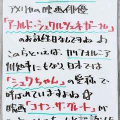 アーノルドシュワルツェネガー/シュワちゃん/誕生日/A型看板/ホワイトボード/平田家具店/... おはようございます! 本日のホワイトボー…(1枚目)