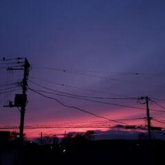 キレイ/美しい/景色/夕焼け/北海道/道東/... 今日の北海道、標茶(しべちゃ)の夕焼け。…