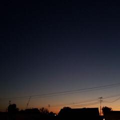 空/夕焼け/標茶/ひらた家具店 ひらた家具店の2階の窓から見える夕焼け。…