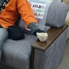 ひらた家具店/平田家具店/ソファー/ソファ/家具/木肘/... ソファーの肘が「木の板」になっているタイ…