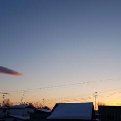 雲/空/夕日/夕焼け/ひらた家具店 先ほどの標茶(しべちゃ)の夕焼け。 ひら…