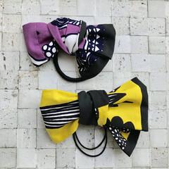 自分用/プータルフリン/ハンドメイド/雑貨/ファッション/わたしの手作り マリメッコ のハギレで ヘアゴムをカタカ…