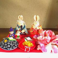 トールペイント/お雛様/ハンドメイド お雛様玄関に飾りました🤗 20年以上前に…(1枚目)