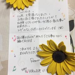 ひまわり/百合/仏花/クレイアート/フォロー大歓迎/ハンドメイド R/Fさんにお願いしていた仏花が届きまし…(3枚目)