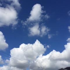 夕焼け/8/7の朝の空/風景 夏空•*¨*•.¸¸♬︎  出勤時の空 …