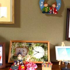 トールペイント/お雛様/ハンドメイド お雛様玄関に飾りました🤗 20年以上前に…(3枚目)