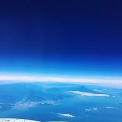 風景写真/風景/旅 上空からの天気の良い富士山