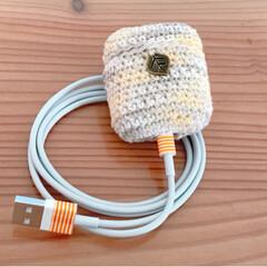 編み物/かぎ針/ケースカバー/AirPods/ハンドメイド AirPodsケースカバーを編みました。…(2枚目)