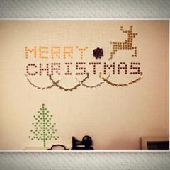 クリスマス/壁アート/マスキングテープ/DIY/インテリア 考える時間も作る時間も楽しいです