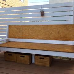 ベンチ/2×4/1×4/イス/椅子 /OSB合板/... osb合板と1×4 2×4を中心に製作し…(1枚目)