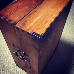 ダイソーの木製ボックス/セリアのブロンズ金具類/ホームセンターの木箱/DIY/100均/ダイソー/... 知人からの依頼で、ホームセンターの木箱を…