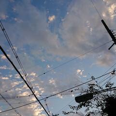 イマソラ/街/空/秋/風景/おでかけ 【秋の一枚】今朝6時45分、出先での一枚…
