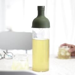 KINTO/冷茶/緑茶/お茶/至福のひととき/キッチン雑貨/... 冷茶。ボトルにお茶っぱを入れて、お水で数…