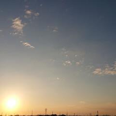 ベランダ/イマソラ/秋/風景/住まい 【秋の一枚】今日の夕方 ベランダに出てみ…