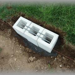 水平/レベル出し/DIY基本/フェンス基礎 ホームセンターでも購入できる基礎用セメン…