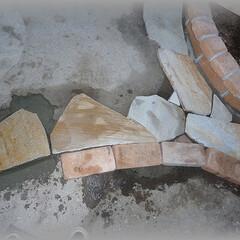 目地/乱張り/石張り 一通り乱張りする場所の外枠にあたる部分の…