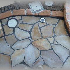 排水/乱張り 排水桝と目皿の位置関係 ここに導いた雨水…