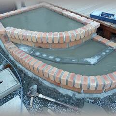 コンクリート/基礎/下地/DIY コンクリート打設終了です。