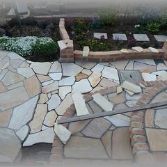 乱張り/アルビノ天然石/イエロー/石/石英石 パズルの様に石を欠きながら、形を造ってい…