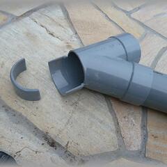 継手/配管/排水管/カット/既存/塩ビ管/... 既存のパイプにY字継手を繋ぐのに、後入れ…