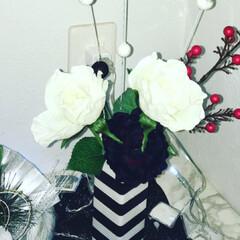 DIY/ハンドメイド/ダイソー/セリア/お正月準備/しめ縄/... 今年はお正月飾りを手作りしました(ᵔᴥᵔ)(4枚目)