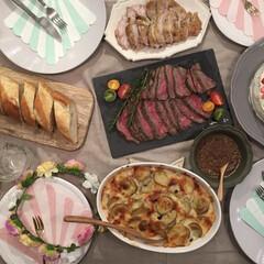 料理/テーブルコーディネート/誕生日メニュー/誕生日/グルメ/フード/... 誕生日は子供の大好きなお肉多めのメニュー…
