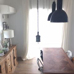 ダイニングテーブル/ダイニング/インダストリアル/ビンテージ/アンティーク/照明/... ダイニングはテーブルと照明にこだわってア…