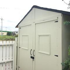 物置/インテリア/DIY/家具/住まい/収納/... 庭の物置きにキャンプ道具が入りきらなくな…