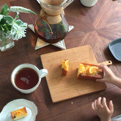 おうちカフェ/コーヒー/おやつタイム/グルメ/フード/スイーツ/... いつかのおやつタイム。 たまにはコーヒー…