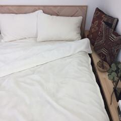 ベルメゾン/ベッドカバー/ベッドルーム/寝室/インテリア/雑貨/... 寝室のベッドカバー、枕カバーをベルメゾン…