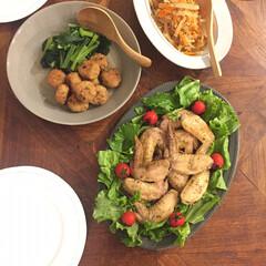 夕飯/献立/器/我が家の食器フォトコンテスト/インテリア/グルメ/... 今夜の晩御飯。 ●手羽先のハーブグリル …