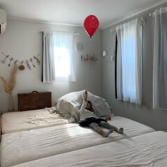 ドライフラワー/インテリア/ベッドルーム/寝室/住まい/イケア/... 我が家の寝室♬ なるべくシンプルかつ落ち…(1枚目)