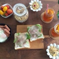 メイソンジャー/食器/器/朝ごはん/インテリア/グルメ/... いつかの朝ごはん。 いつものアイスティー…