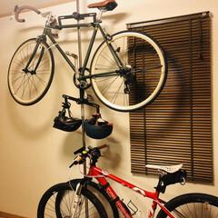 自転車/自転車ラック/自転車スタンド/自転車収納/自転車フック/突っ張り棒/... 自転車ラックを導入。 リサイクルショップ…