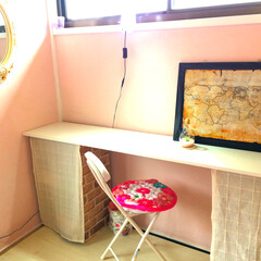 DIY/雑貨/家具/ニトリ/住まい/リフォーム/... 高校生になった娘の勉強机はニトリのカラボ…(1枚目)