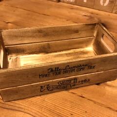 セリア/100均/DIY/BRIWAX/木製BOX/工房/... セリアの木製box★ 趣味のレザークラフ…